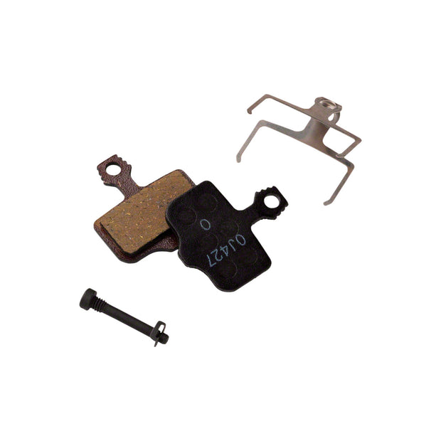 SRAM Disc Brake Pads - Organic Compound, Steel Backed, Quiet, For Level, Elixir, DB, and 2-Piece Road