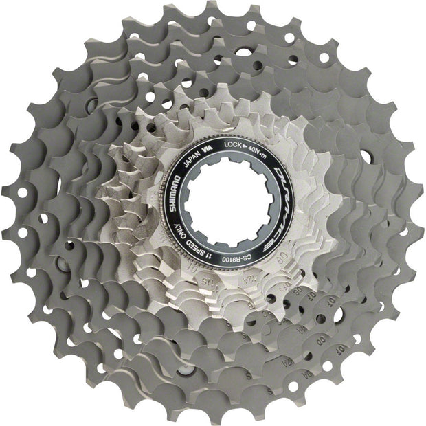 Shimano Dura Ace CS-R9100 Cassette - 11 Speed, 11-30t, Silver/Gray - 11 Speed