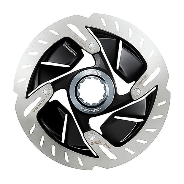 Shimano Dura-Ace SM-RT900-S Disc Brake Rotor - 140/160mm, Center Lock, Silver/Black