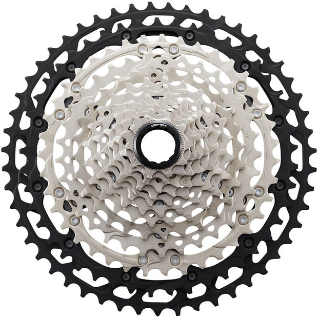 Shimano XT CS-M8100 Cassette - 12-Speed, 10-51t, Silver/Black, Micro Spline - 12 Speed