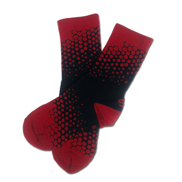 Sos Drizzle Socks - Black/Red