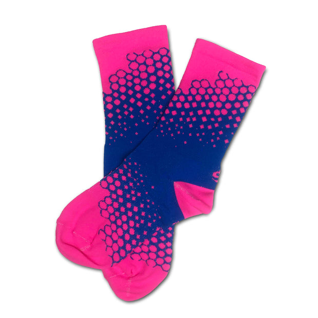 Sos Drizzle Socks - Pink/Blue