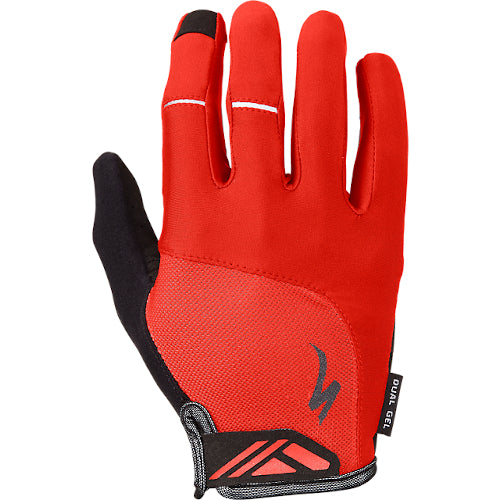 Specialized Bg Dual Gel Gloves Long Finger - Red