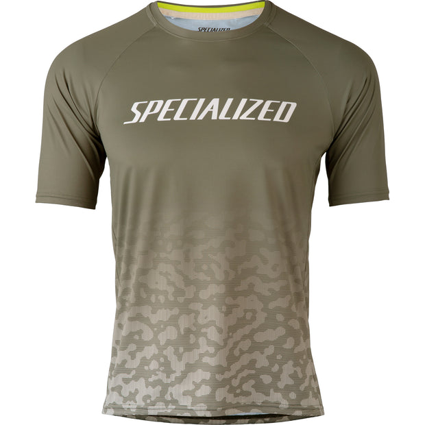 Specialized Enduro Air Jersey Short Sleeve - Green/White