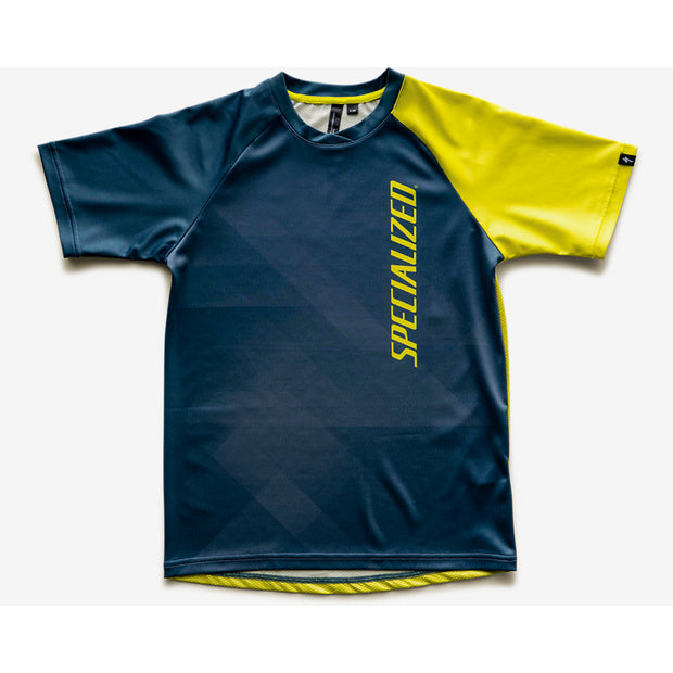 Specialized Enduro Grom Jersey Short Sleeve Youth - Blue/Ion