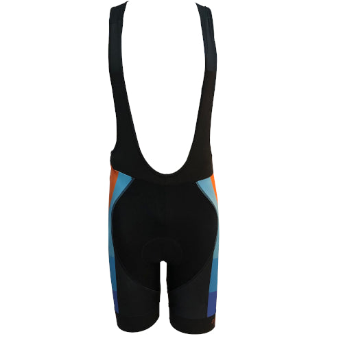 Spero Cycling Bib Short - Orange/Blue