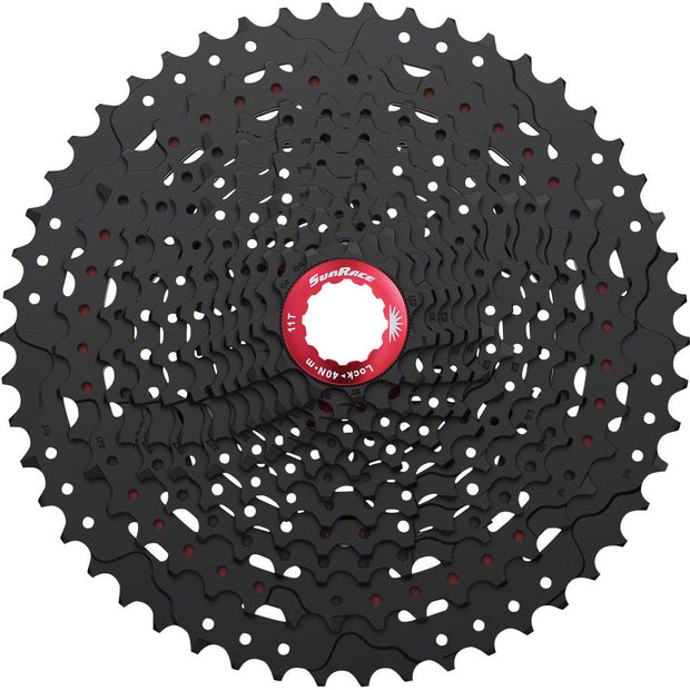 SunRace MX8 Cassette - 11 Speed, 11-50t, Black - BLACK