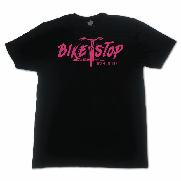 T-Shirt Bike Stop Horizontal W - Pink