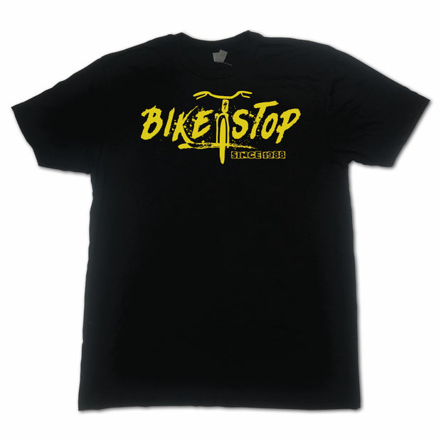 T-Shirt Bike Stop Horizontal W - Yellow