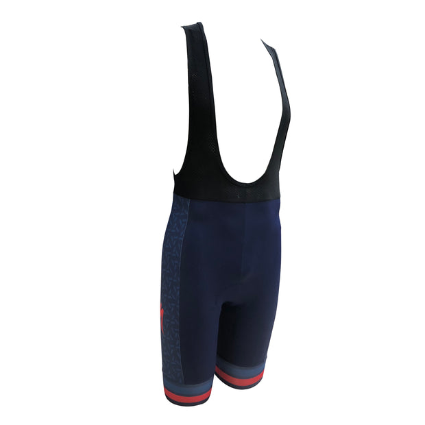 Zerie Bike Stop Bib Short - Blue/Blue/Red