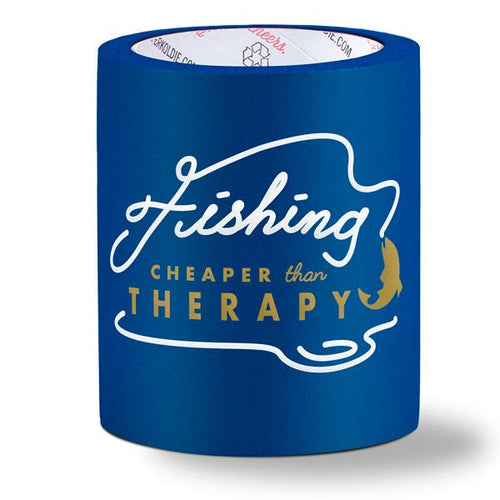 beer can cooler - cheaper than therapy - blue