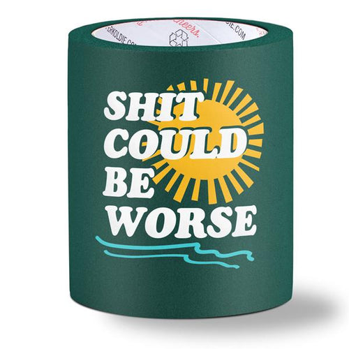 beer can cooler - shit could be worse - green