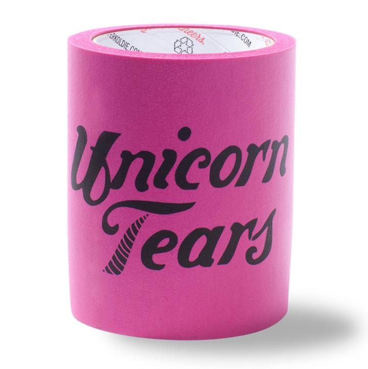 Beer Can Cooler - UNICORN TEARS FOAM KOLDIE - SUPERKOLDIE fuchsia
