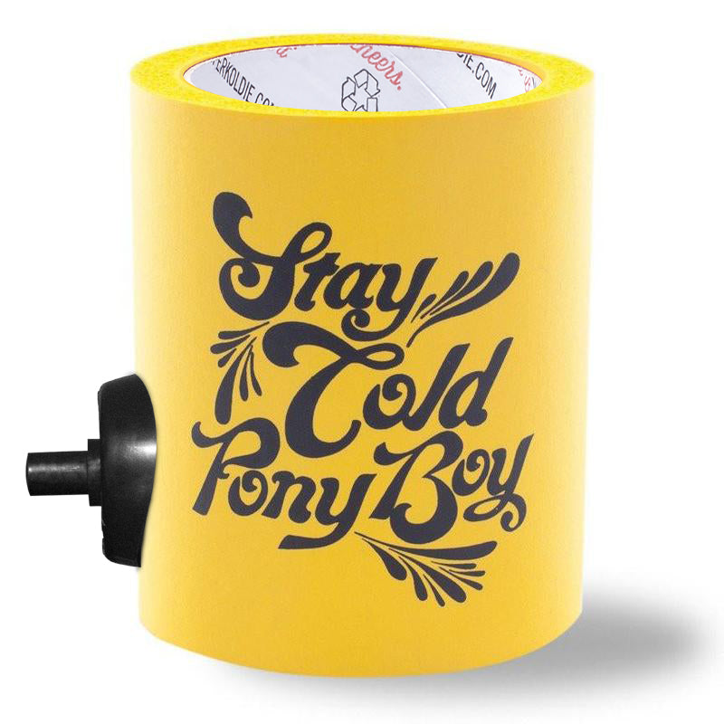 STAY COLD PONY BOY FOAM KOLDIE w/ BEERGUNNER - PARTY BUTTON