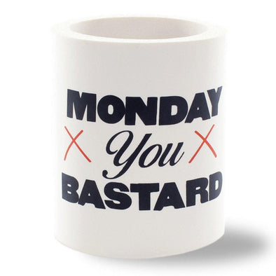 MONDAY YOU BASTARD FOAM KOLDIE - Beer Can Cooler - SUPERKOLDIE off white