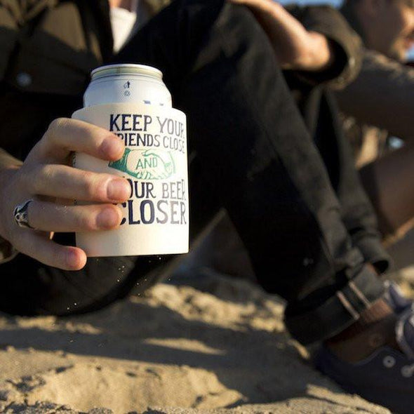 Beer Can Cooler - KEEP YOUR FRIENDS CLOSE KOLDIE - SUPERKOLDIE