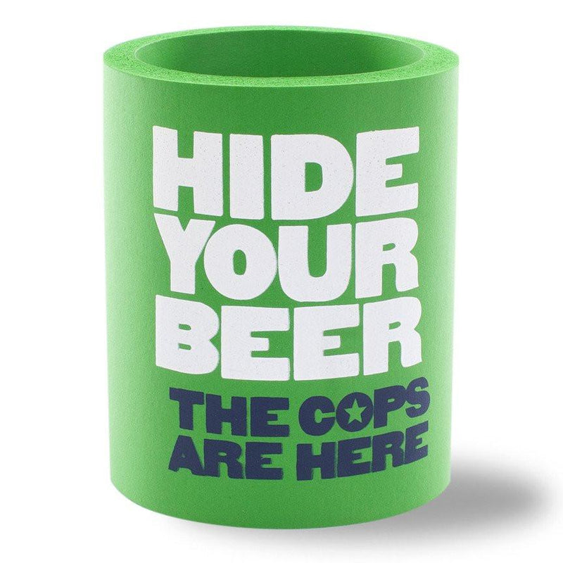 HIDE YOUR BEER FOAM KOLDIE - Beer Can Cooler - SUPERKOLDIE kelly green