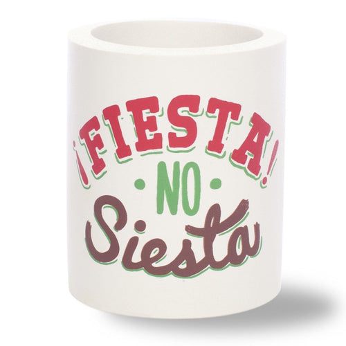 Beer Can Cooler - FIESTA NO SIESTA FOAM KOLDIE - SUPERKOLDIE off white