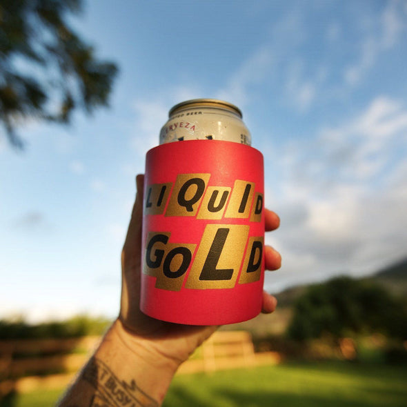 LIQUID GOLD FOAM KOLDIE - Beer Can Cooler - SUPERKOLDIE