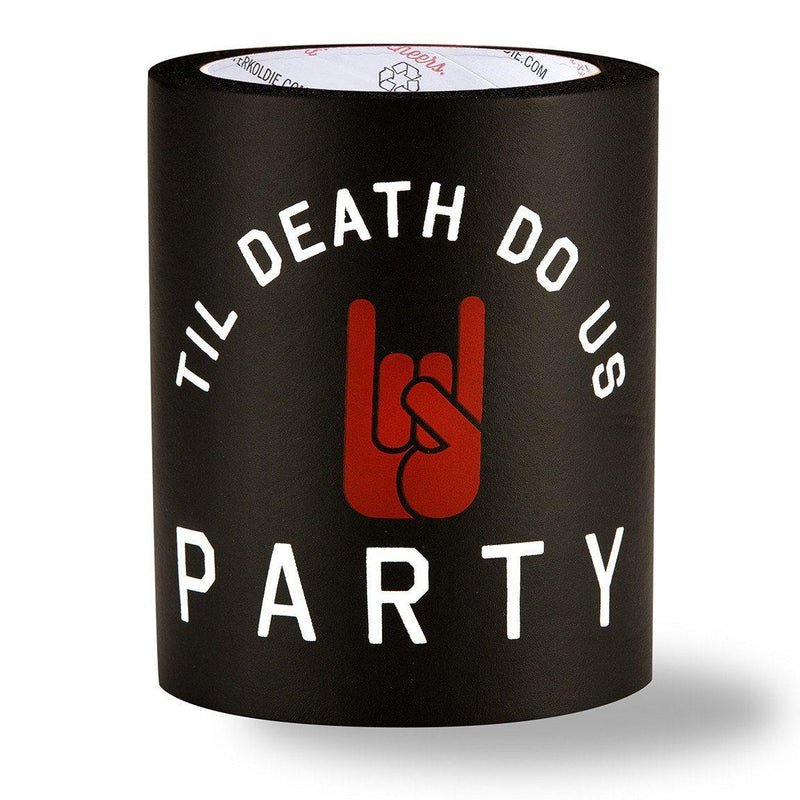 TIL DEATH DO US PARTY FOAM KOLDIE - Beer Can Cooler - SUPERKOLDIE black