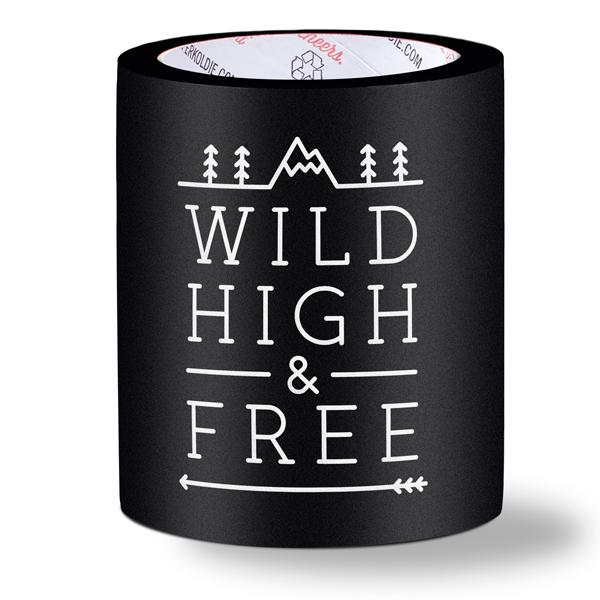 foam can coolers - wild high & free - black