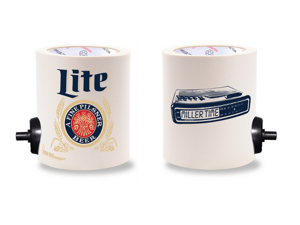 MILLER LITE WHATS THE TIME  FOAM KOLDIE  w/ PARTY STARTER