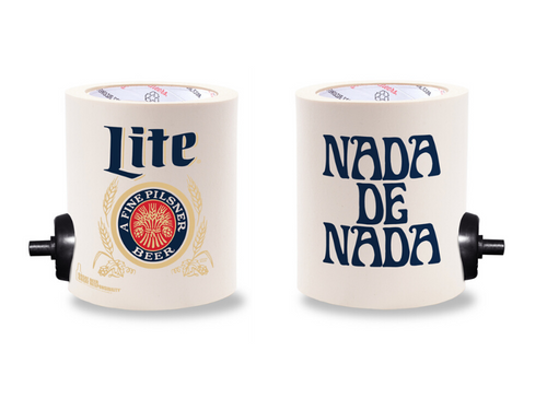 MILLER LITE NADA DE NADA FOAM KOLDIE  w/ PARTY BUTTON