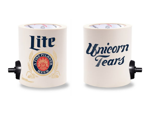 MILLER LITE UNICORN TEARS FOAM KOLDIE  w/ PARTY STARTER