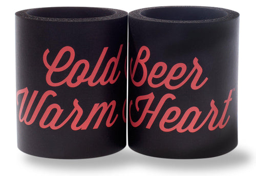 COLD BEER WARM HEART FOAM KOLDIE w/ PARTY BUTTON [*NOT SHOWN]