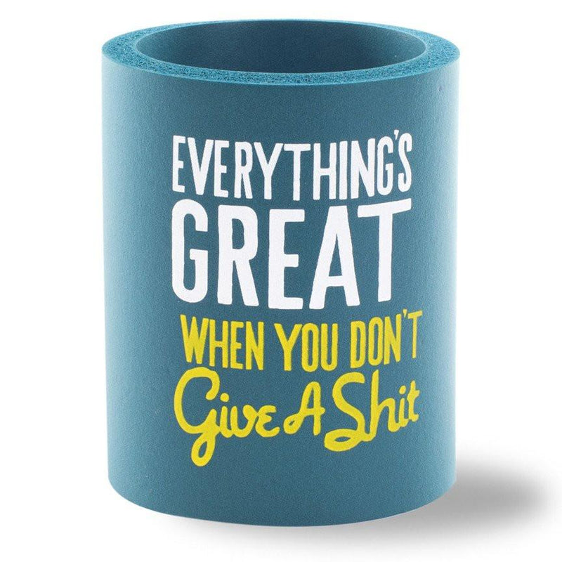 Beer Can Cooler - EVERYTHING'S GREAT FOAM KOLDIE - SUPERKOLDIE dark teal