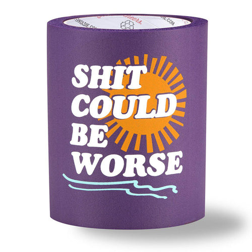 beer can cooler - shit could be worse - purple
