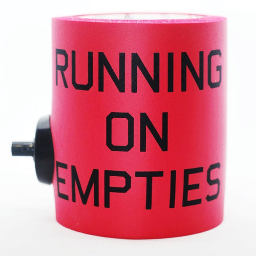 RUNNING ON EMPTIES FOAM KOLDIE w/ PARTY BUTTON