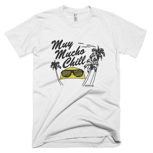 MUCHO CHILL MEN'S TEE-Tees-White-S-SUPERKOLDIE