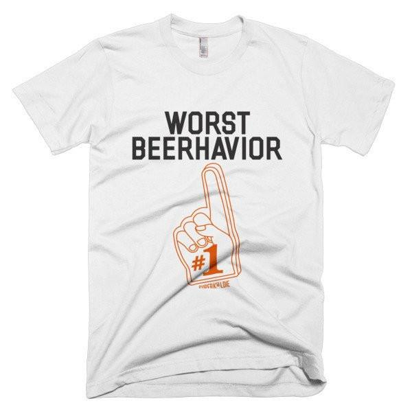 WORST BEERHAVIOR MEN'S TEE-Tees-White-S-SUPERKOLDIE