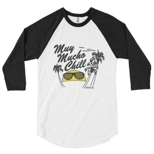 MUCHO CHILL MEN'S 3/4 SLEEVE RAGLAN-Tees-S-SUPERKOLDIE