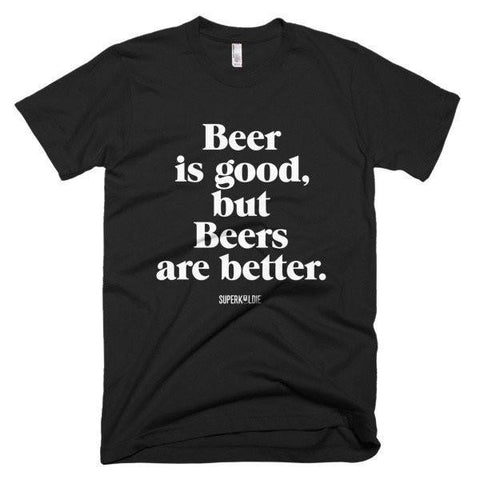 Beers Are Better Men's Black T-shirt