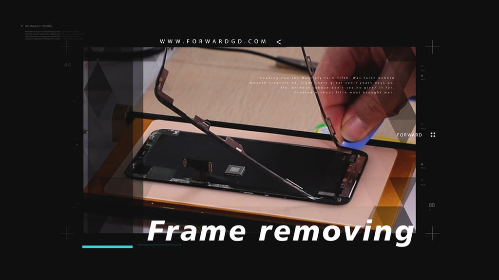 iPhone 11 Pro Max Screen Refurbishing Video Tutorial - Step 1: Remove The Frame.