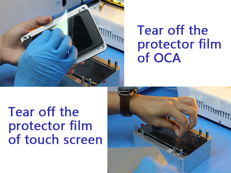 Putting OCA With A High Precision Universal OCA Laminating Mold