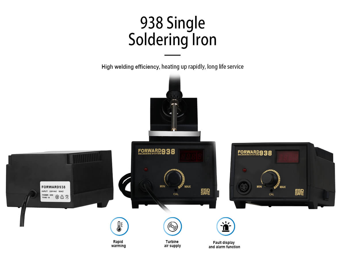 Top 938 Single Soldering Iron Station With Digital Display For Phone Repair