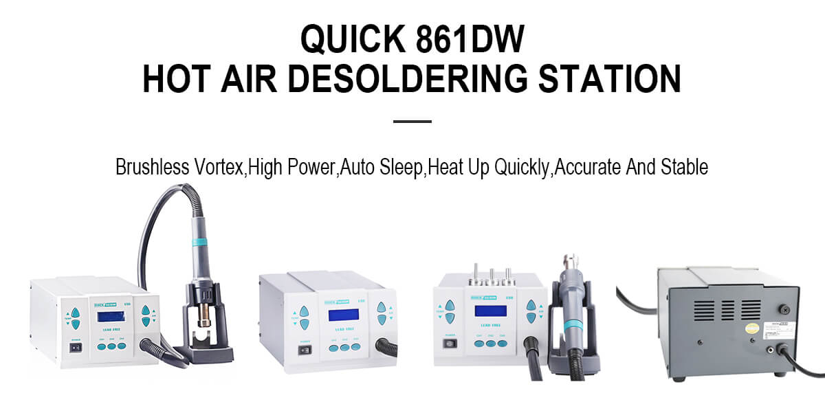 Quick 861DW hot air desoldering station
