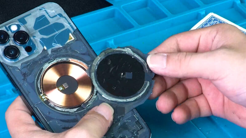 the removed magnet can't be thrown away