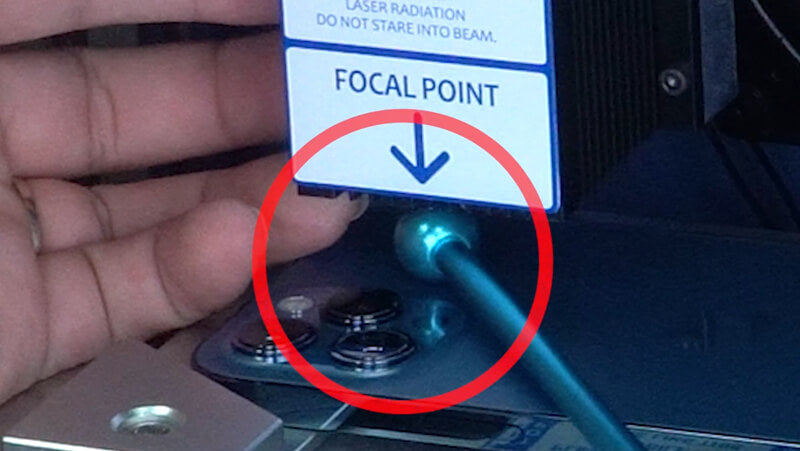Place the focal length rod on the right way