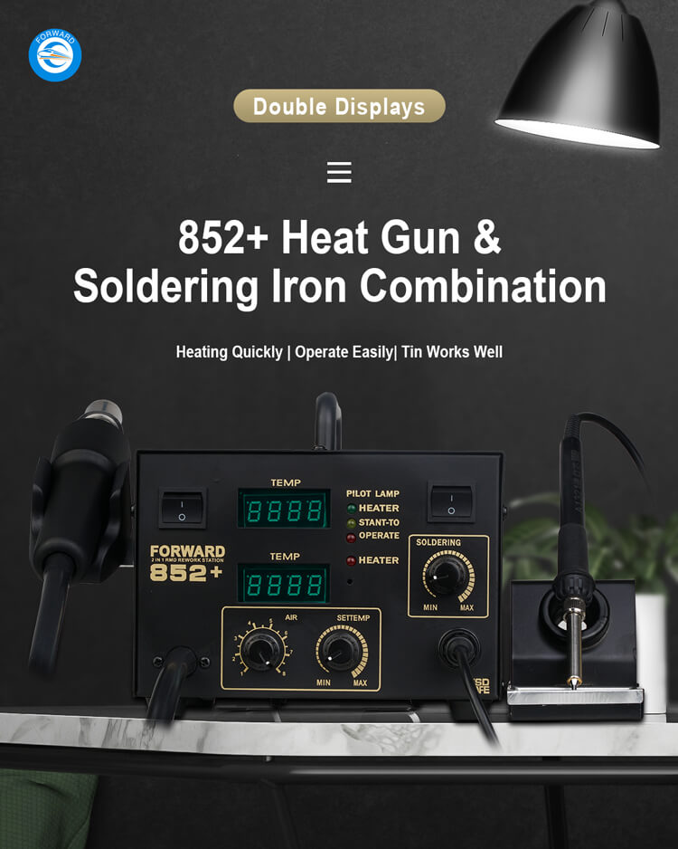 High Quality 852+ Heat Gun And Soldering Iron Combination