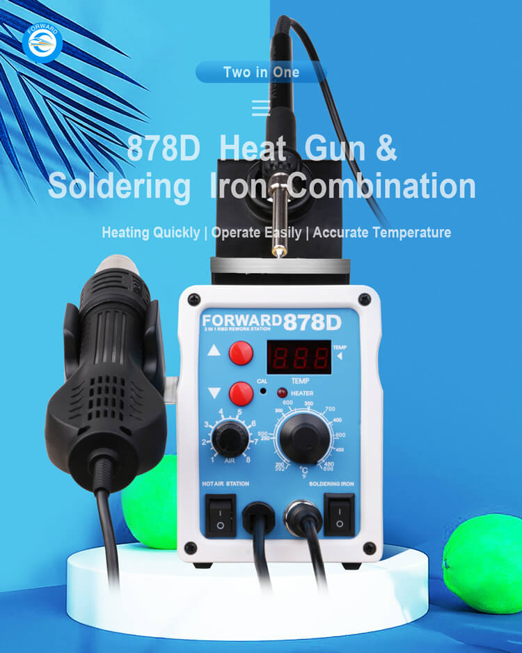 FORWARD 878D Heat Gun And Soldering Iron Combination Repair Station