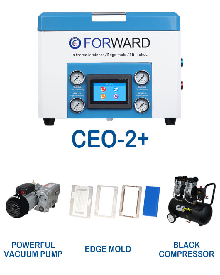 ceo-2+ &  Powerful Vacuum Pump & Black Compressor & 5 Edge Mold