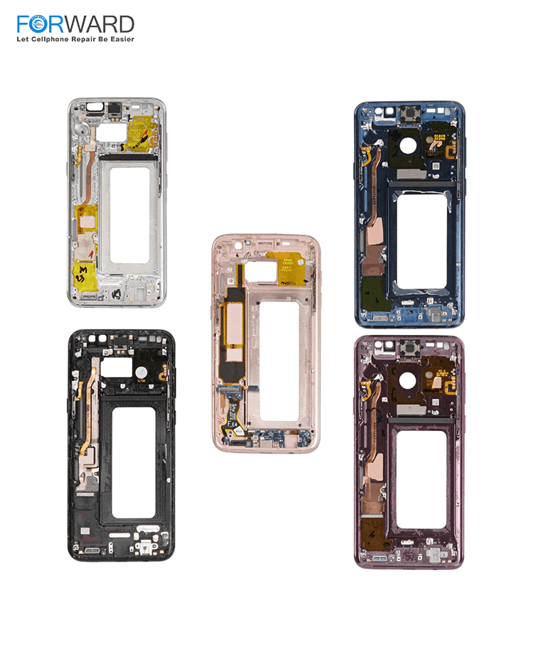 Original Quality Frame+Metal Strip For Samsung S6/S6 Edge/S7/S7 Edge/S8/S8+ Edge Broken Screen Repair And Change -5pcs/pack