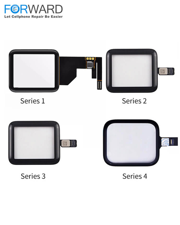 Original Quality Glass+Touch For Apple iWatch S1/S2/S3/S4/S5 38MM/40MM/42MM/44MM LCD Glass Repair and Refurbishment - (3 PCs)