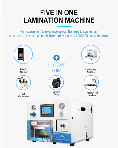 RMB EDGE-all In One OCA Lamination Machine - Forward