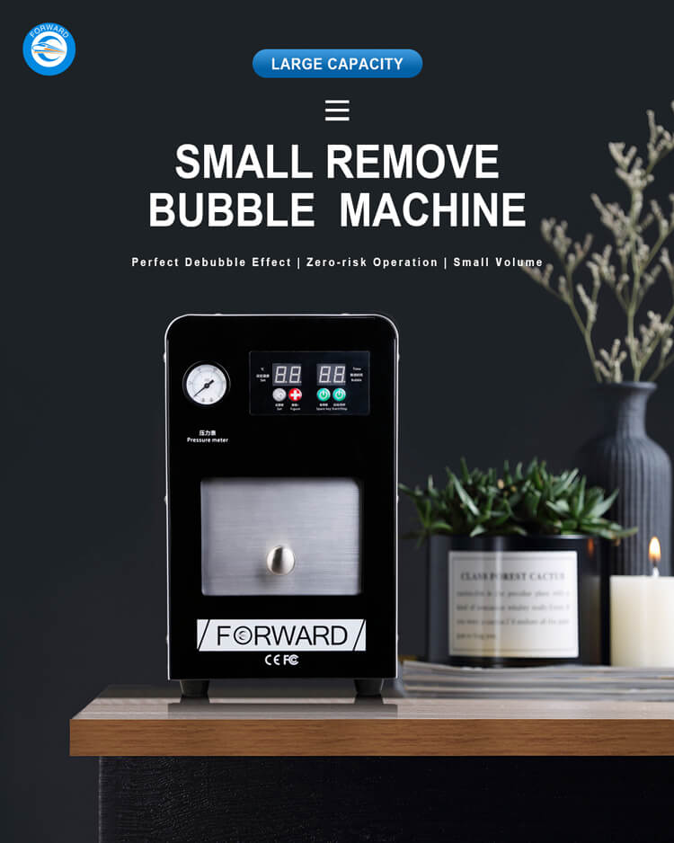 Top safety small bubble removal machine for LCD&OLED
