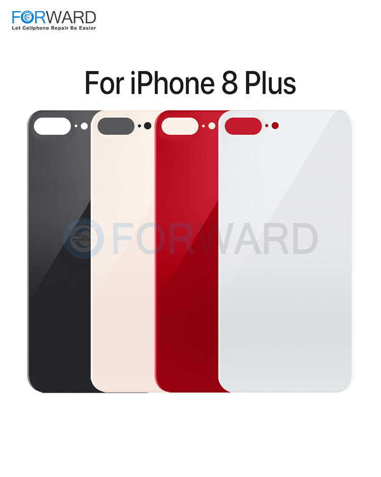 Original Quality Back Glass Big/Small Hole Normal/EU Version For iPhone 8 8P Replacement -(5 Pcs)